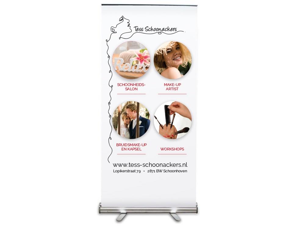 Creayv grafische vormgeving roll-up banner Tess Schoonackers