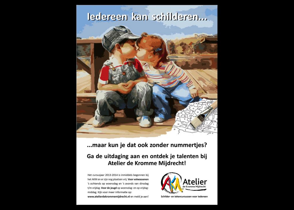Grafische vormgeving | vereniging Atelier de Kromme Mijdrecht | Advertentie