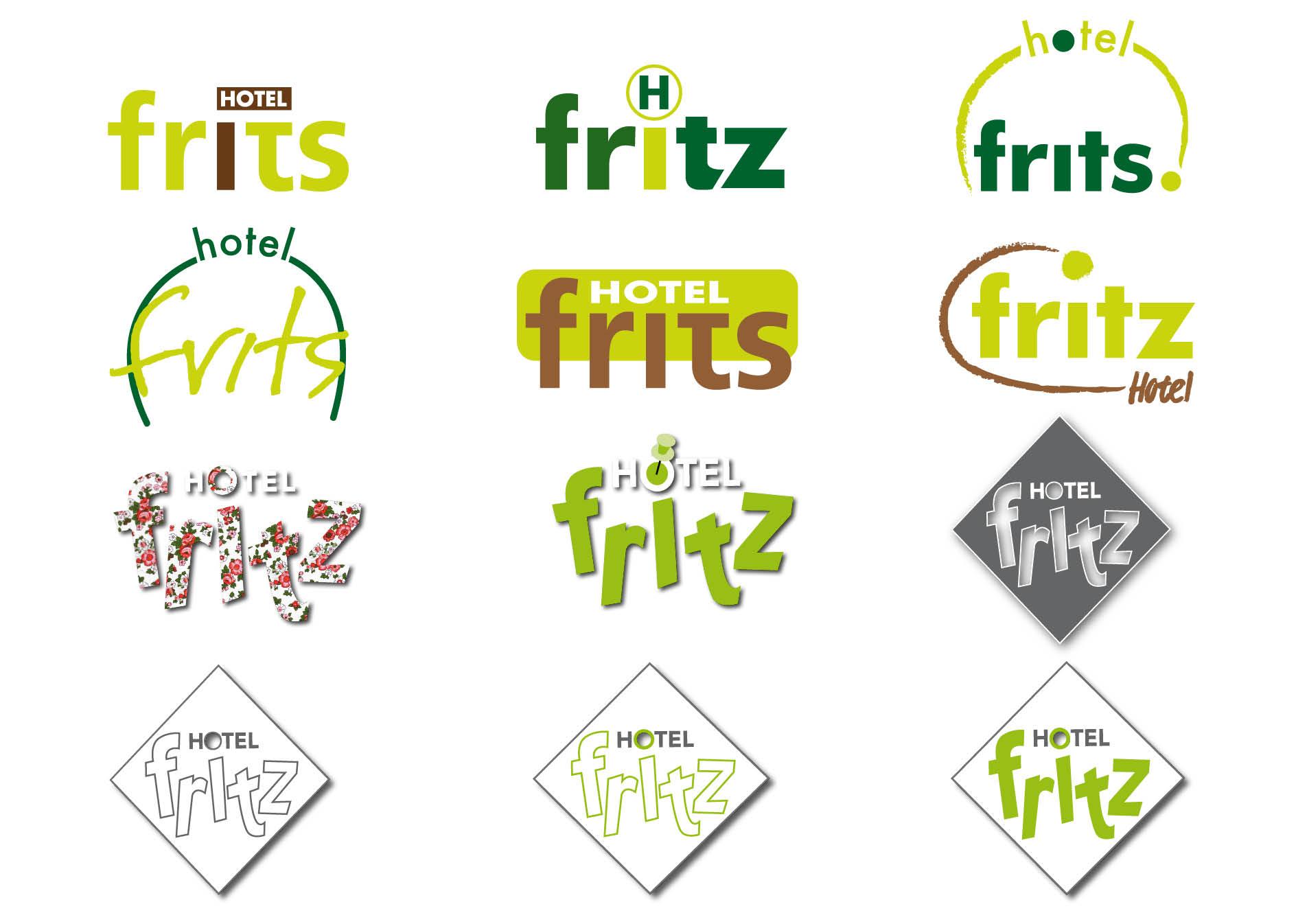 Creayv grafische vormgeving en dtp logovoorstellen hotel Fritz voor GMI school