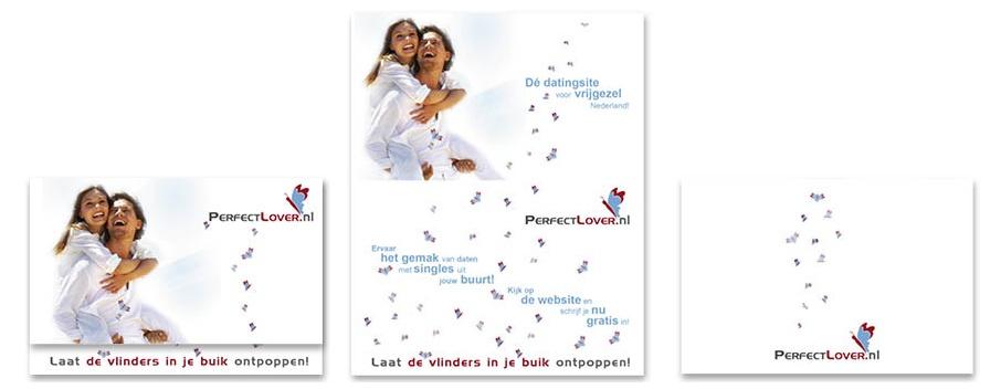 Grafisch vormgever voor perfectlover.nl | folder