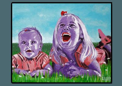 Creayv heeft het schilderij Zusjes gemaakt voor Sandra Erkelens