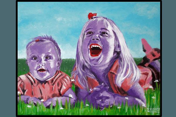 Creayv andere creaties schilderij zusjes