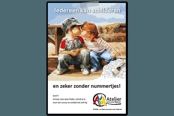 Creayv grafische vormgeving en dtp voor Atelier de Kromme Mijdrecht flyer