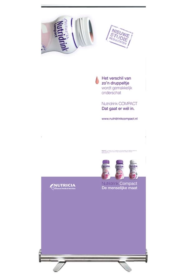 Creayv grafische vormgeving en dtp roll-up Nutridrink Compact
