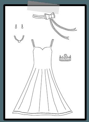 Creayv prinsessenkleurplaat voor Thuisfuif accessoires voor prinses