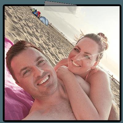 Creayv foto Rutger en Yvonne op het strand