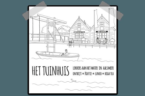 Creayv illustratie op shopper Tuinhuis Aalsmeer