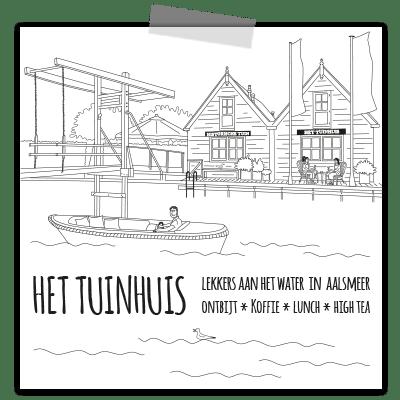 Creayv illustratie tuinhuis voor shopper Yvonne van der Velden_vierkant