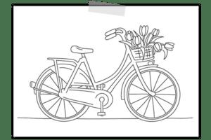 creayv illustratie fiets Impliva voor op paraplu