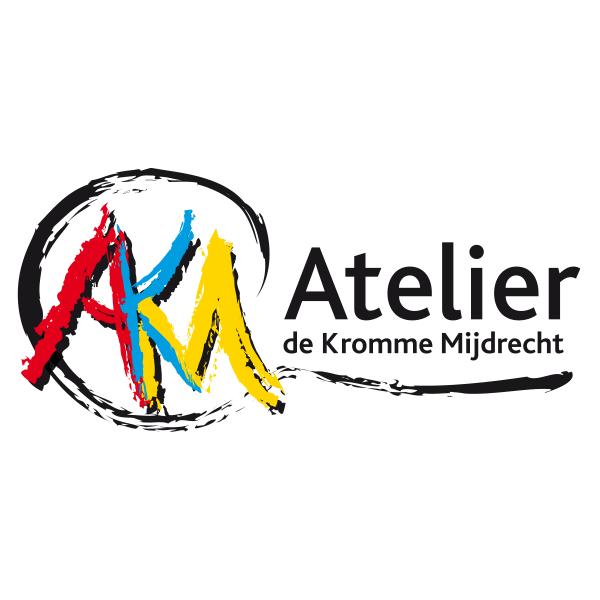 Logo Atelier de Kromme Mijdrecht met penseelstreken