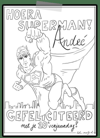 creayv kleurplaten voedselbank Veldhoven superman voor jongens