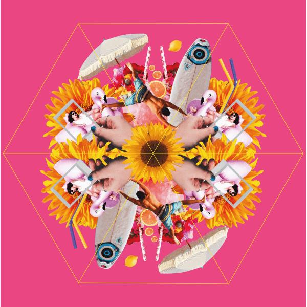 Dessin van de roze Personal Parasol van Impliva vrolijk en funny