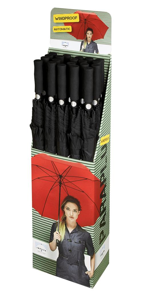 Display voor de grote normale paraplu van Impliva