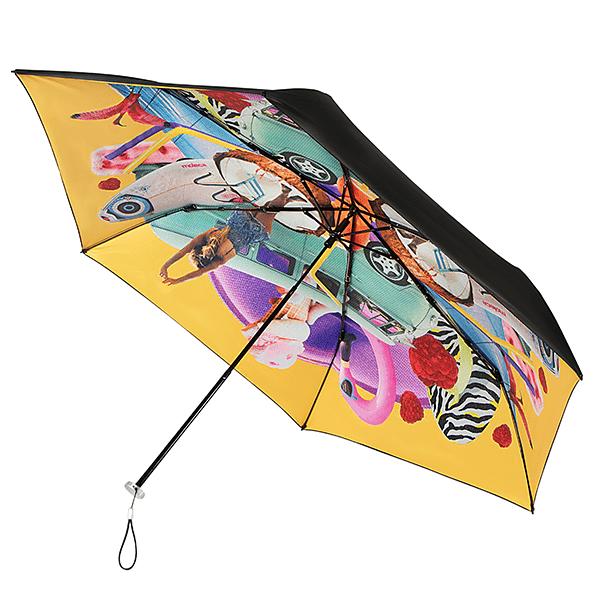 Gele vrolijke Personal Parasol van Impliva