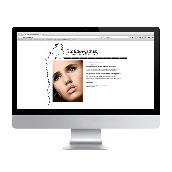 Oude website van Tess Schoonackers
