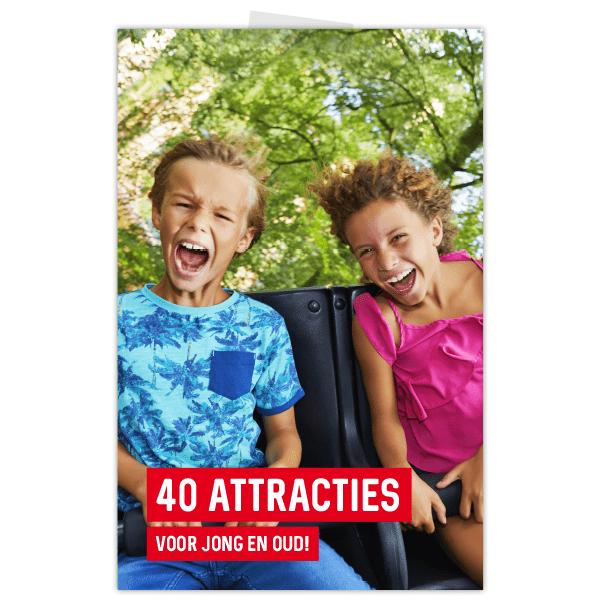 Poster Duinrell voor attractiepark met gillende kinderen in achtbaan