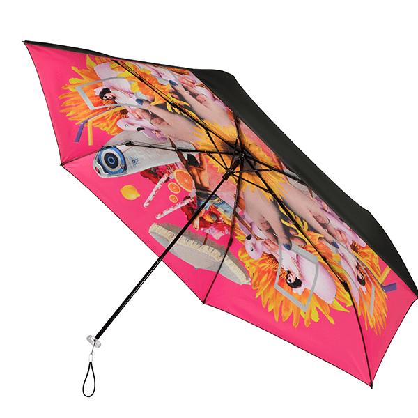 Roze vrolijke Personal Parasol van Impliva