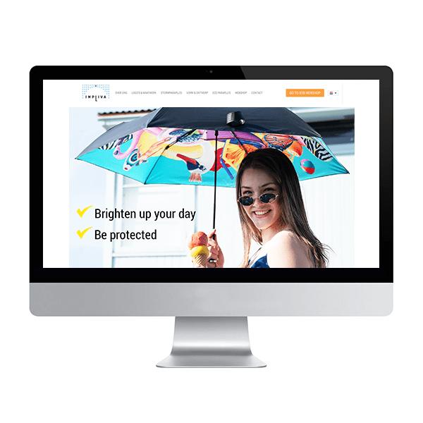 Website header Impliva personal parasol blauw