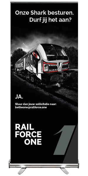 Rail Force One roll up banner wervingscampagne