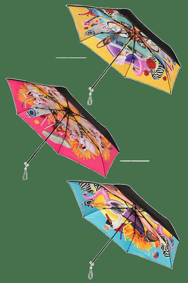 de 3 personal parasols van Impliva zigzag